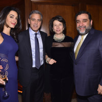 3 George Clooney and Amal Allamudin Clooney Ruben Vardanyan and wife