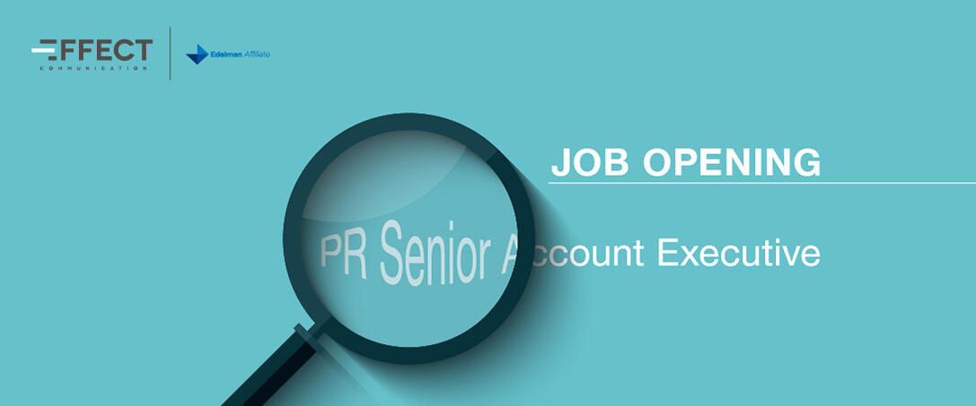 Job Opening: PR Senior Account Executive