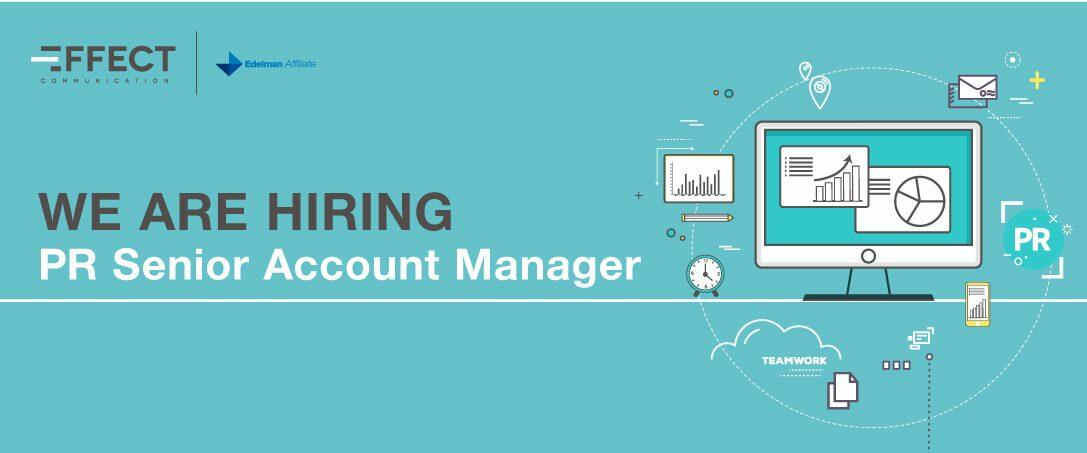 We are hiring: PR Senior Account Manager